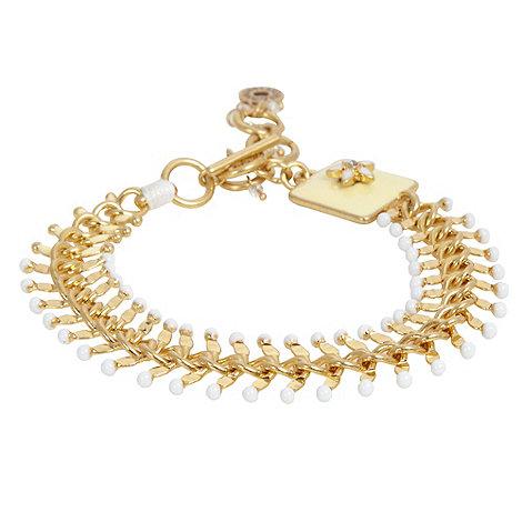 Pilgrim - Gold chevron link bracelet