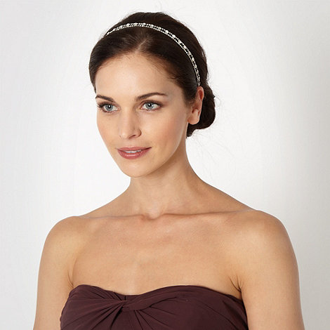 The Collection - Silver diamante tramline hair band