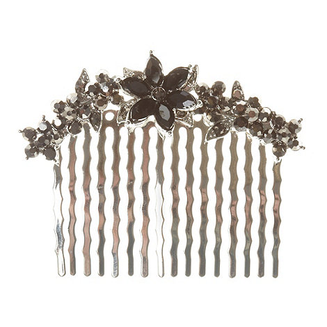 The Collection - Set of two silver flower hair clips