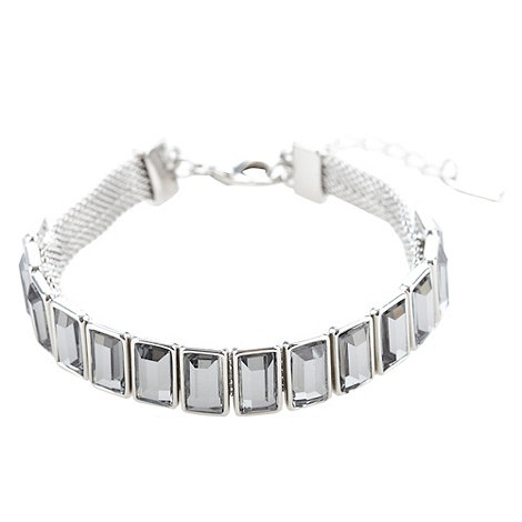 The Collection - Silver faceted jewel bracelet