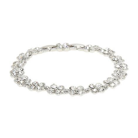 No. 1 Jenny Packham - Designer silver stone clover bracelet