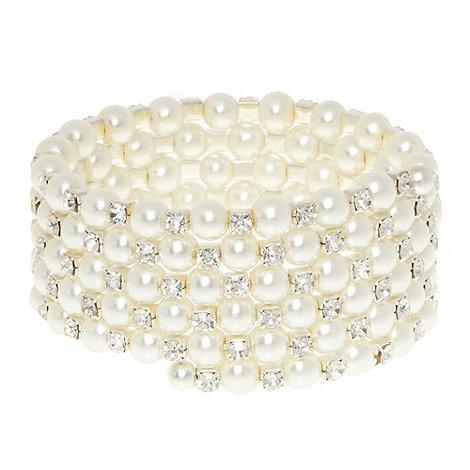 No. 1 Jenny Packham - Designer silver stone spiral bracelet
