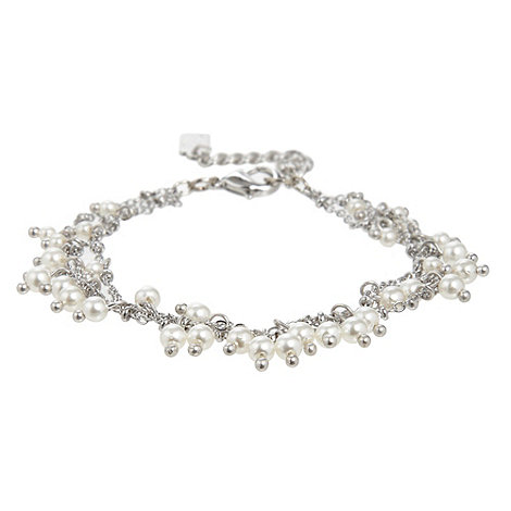 No. 1 Jenny Packham - Designer silver triple row pearl bead bracelet
