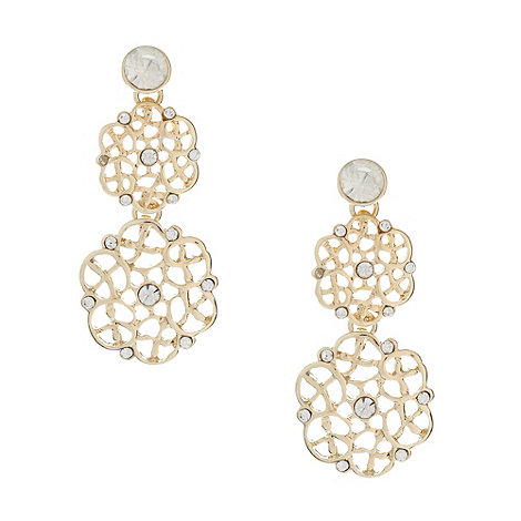 No. 1 Jenny Packham - Designer gold filigree earrings
