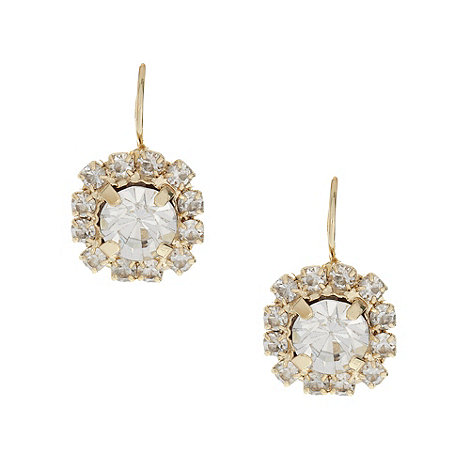No. 1 Jenny Packham - Designer gold stone drop earrings