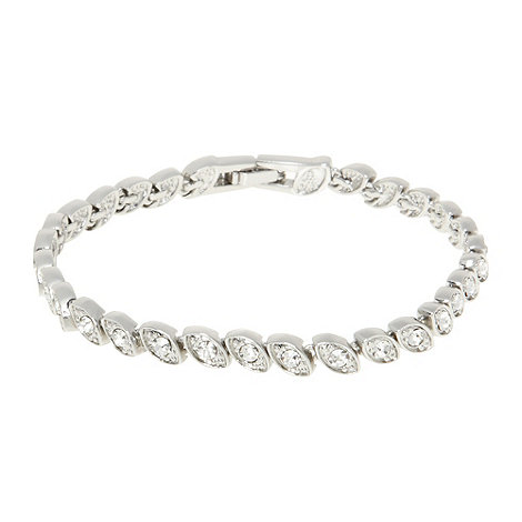 No. 1 Jenny Packham - Designer silver stone leaf bracelet