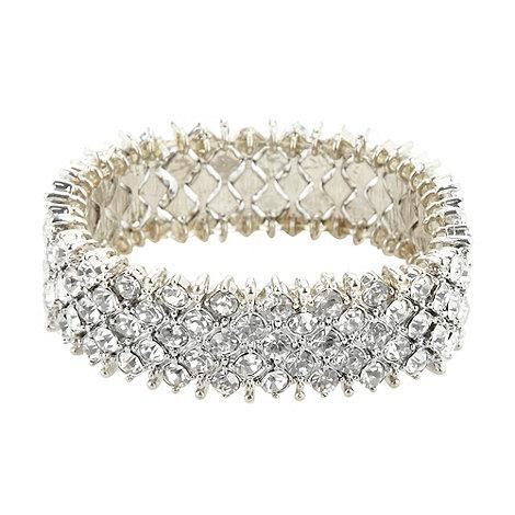 No. 1 Jenny Packham - Designer silver stone set bracelet