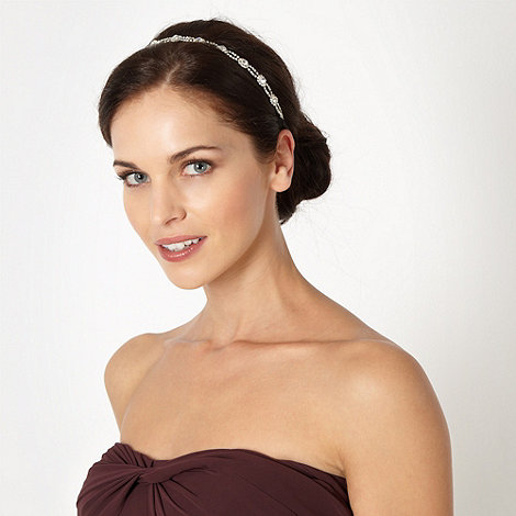 No. 1 Jenny Packham - Designer silver stone set star headband