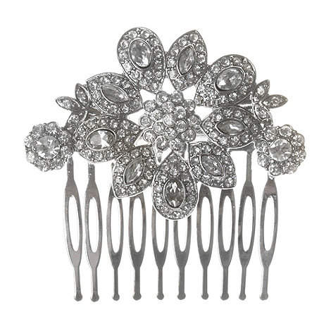 No. 1 Jenny Packham - Designer silver stone hair comb