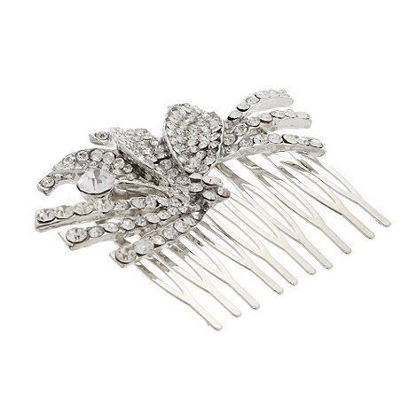 No. 1 Jenny Packham - Designer silver stone leaf hair comb