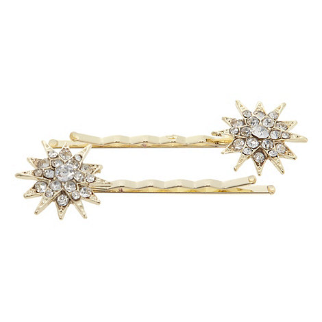 No. 1 Jenny Packham - Designer gold star hair slides