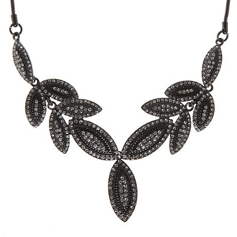 No. 1 Jenny Packham - Dark grey leaf necklace