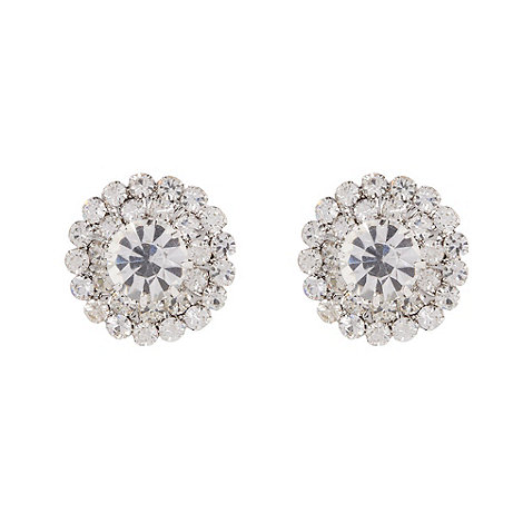 No. 1 Jenny Packham - Designer silver diamante stud earrings