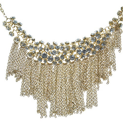 No. 1 Jenny Packham - Designer gold fringed necklace