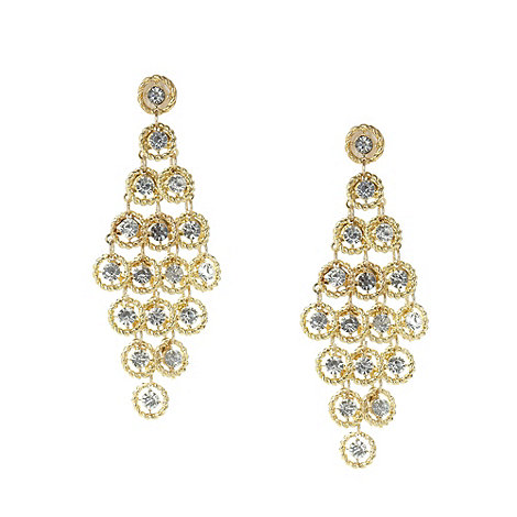 No. 1 Jenny Packham - Designer gold circle diamante earrings