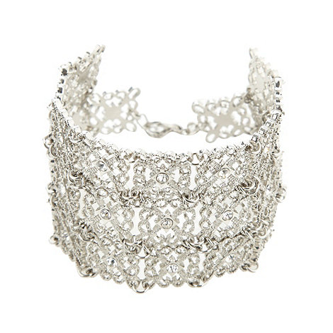 No. 1 Jenny Packham - Designer silver square filigree bracelet