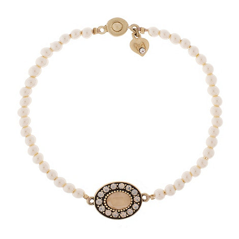 Martine Wester - Fable vintage pearl and opal stretch bracelet