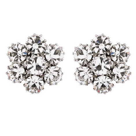 Martine Wester - Flower crystal stud earrings