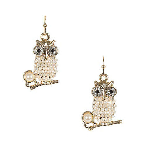 Floozie by Frost French - Gold owl drop earrings