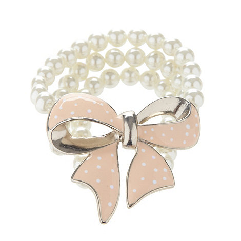 Floozie by Frost French - Cream pearl beaded bow bracelet