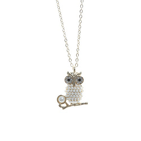 Floozie by Frost French - Gold beaded mini owl pendant