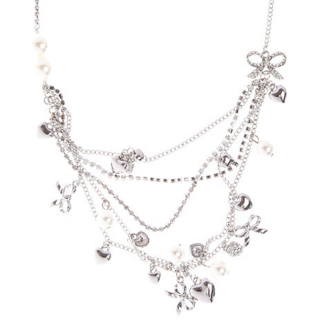Floozie by Frost French - Silver layered charm necklace