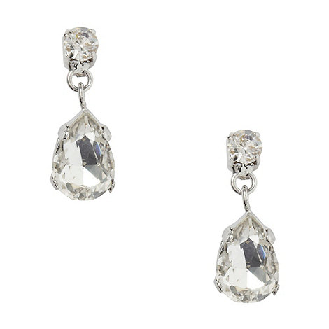 No. 1 Jenny Packham - Designer silver stone teardrop earrings