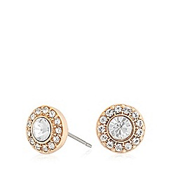 Pilgrim - Rose crystal diamante earrings