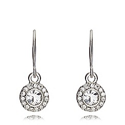 Pilgrim - Silver circle diamante drop earrings