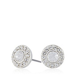 Pilgrim - Silver circle diamante stud earrings
