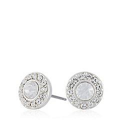 Pilgrim - Silver circle diamante stud earrings