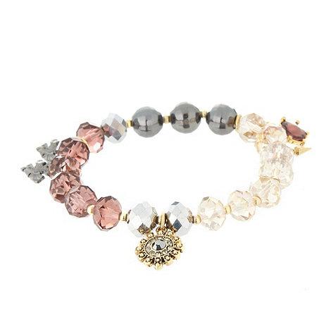 Pilgrim - Multi facet bead charm bracelet