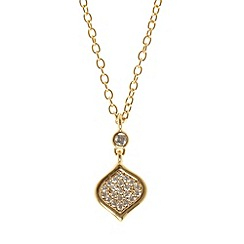 Finesse - Gold feuille d'or cz pendant