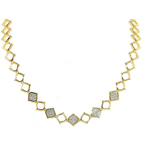 Finesse - Gold feuille d+or statement necklace