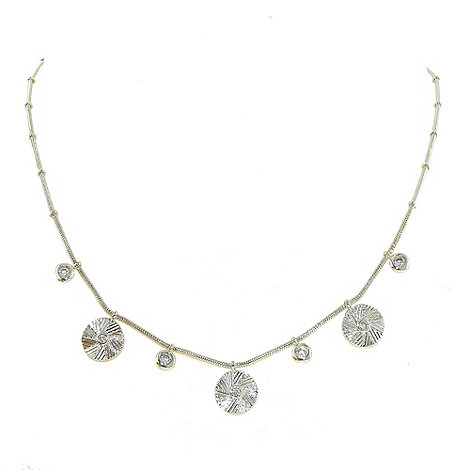 Finesse - Rhodium textured coin necklace