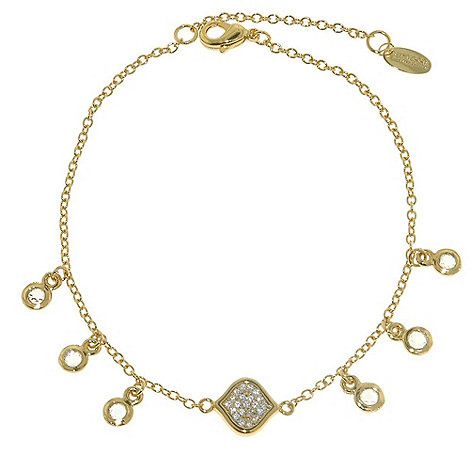 Finesse - Gold feuille d+or and cubic zirconia bracelet
