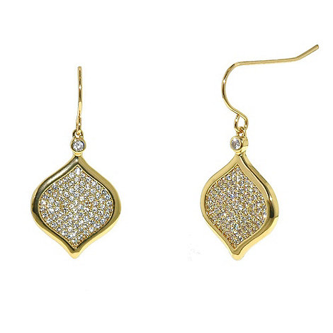 Finesse - Gold feuille d+or large hook earrings
