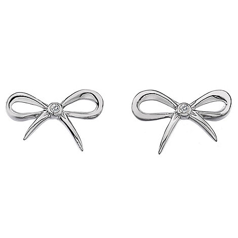 Hot Diamonds - Flourish ribbon stud earrings