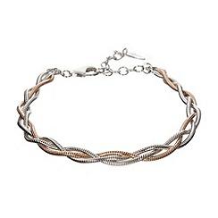 J by Jasper Conran - Designer Sterling silver plaited bracelet