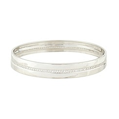 J by Jasper Conran - Designer sterling silver diamante bangle