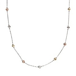 J by Jasper Conran - Designer sterling silver faceted beaded necklace