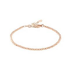 J by Jasper Conran - Designer rose gold vermeil faceted ball bracelet