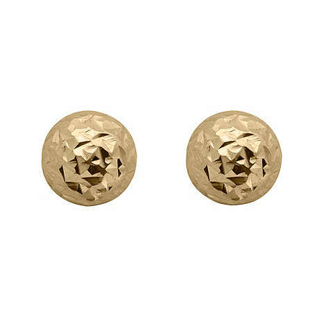 J by Jasper Conran - Designer gold sterling silver hammered stud earrings