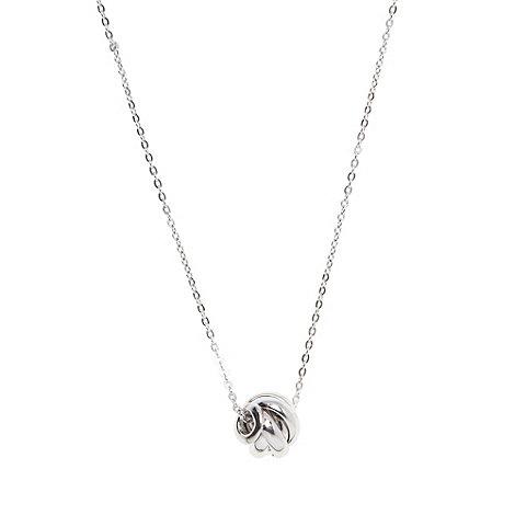 J by Jasper Conran - Designer sterling silver knot pendant necklace