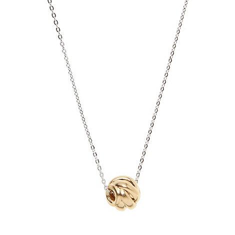 J by Jasper Conran - Designer gold sterling silver knot pendant necklace