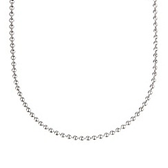 J by Jasper Conran - Designer sterling silver disc chain necklace