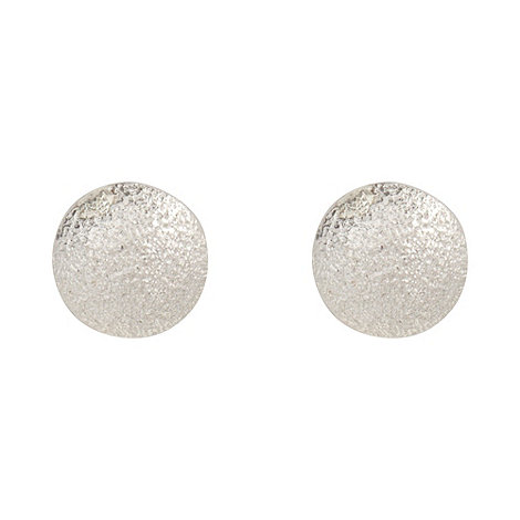 J by Jasper Conran - Designer sterling silver sandblast stud earrings