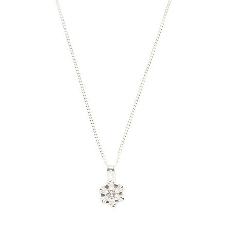 Van Peterson 925 - Sterling silver flower pendant necklace