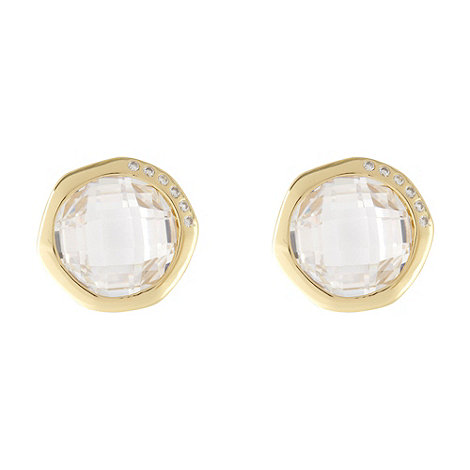 Van Peterson 925 - Designer gold vermeil gem stud earrings