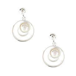Van Peterson 925 - Designer sterling silver circle pearl drop earrings